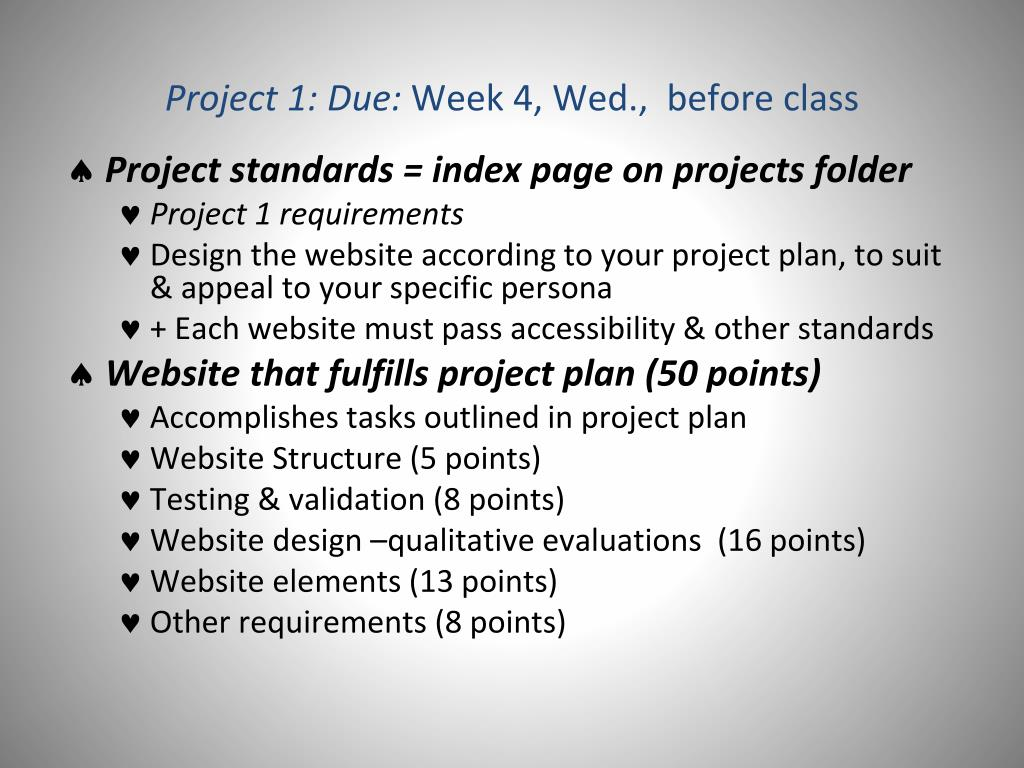 Project 1: