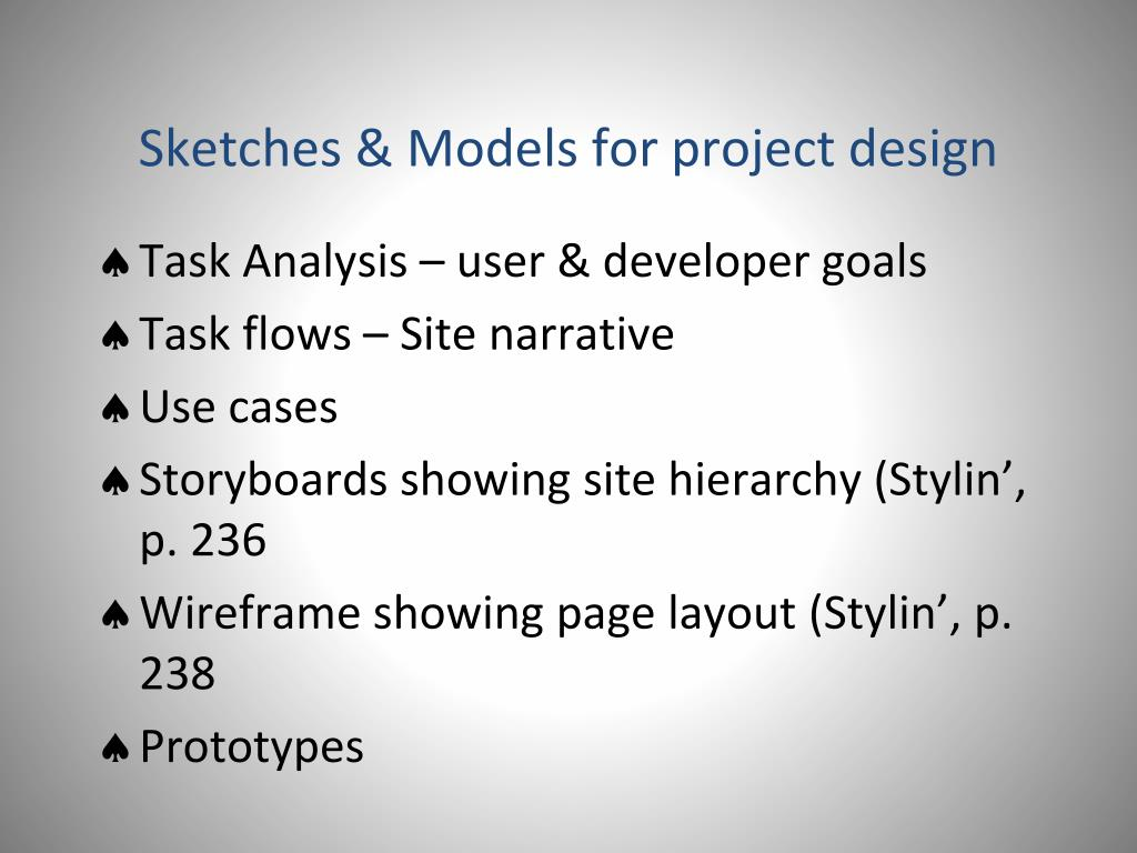 Sketches & Models for project design