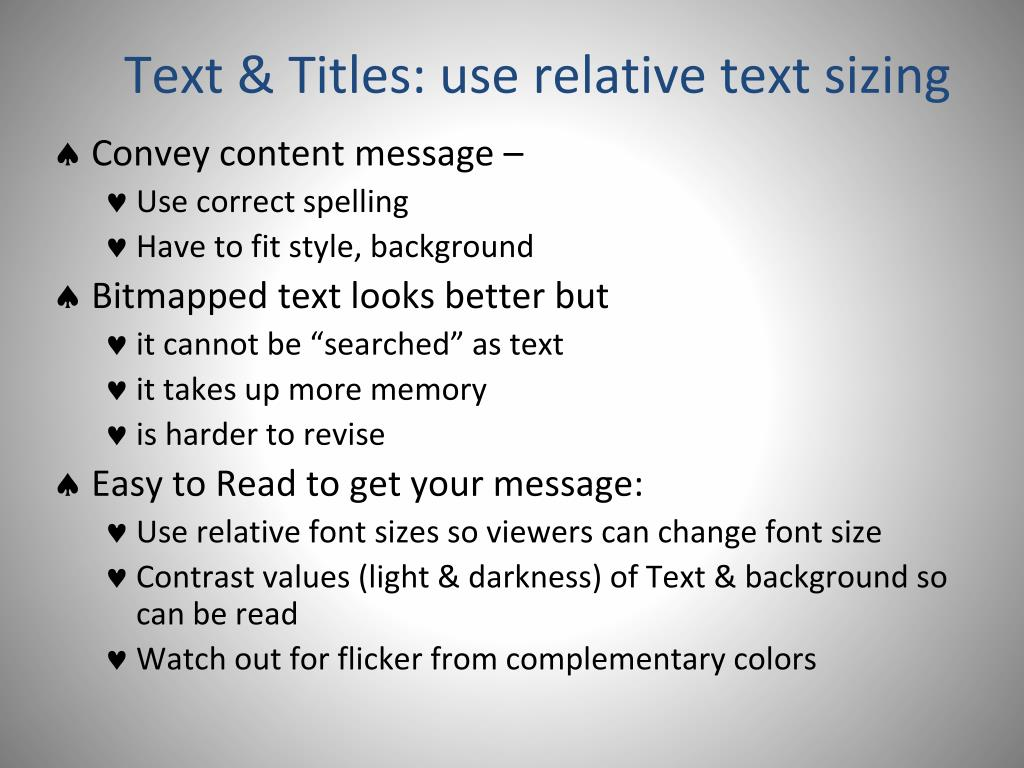 Text & Titles: use relative text sizing