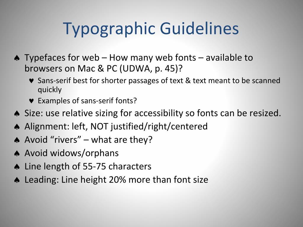 Typographic Guidelines
