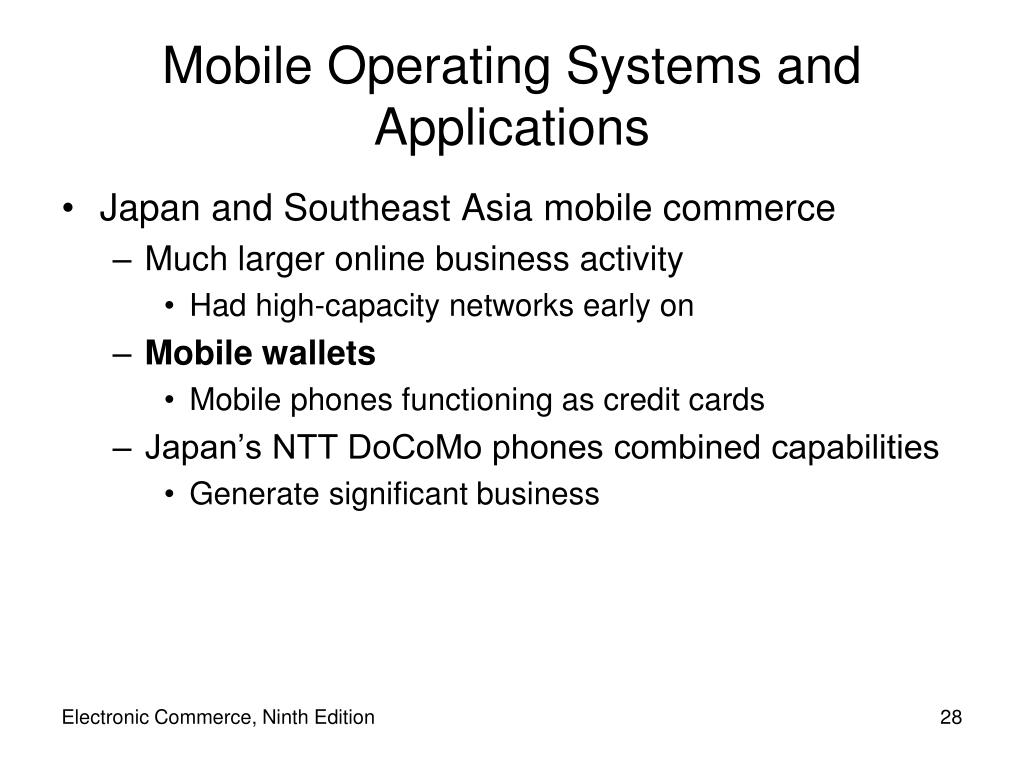 Mobile Operating Systems and Applications