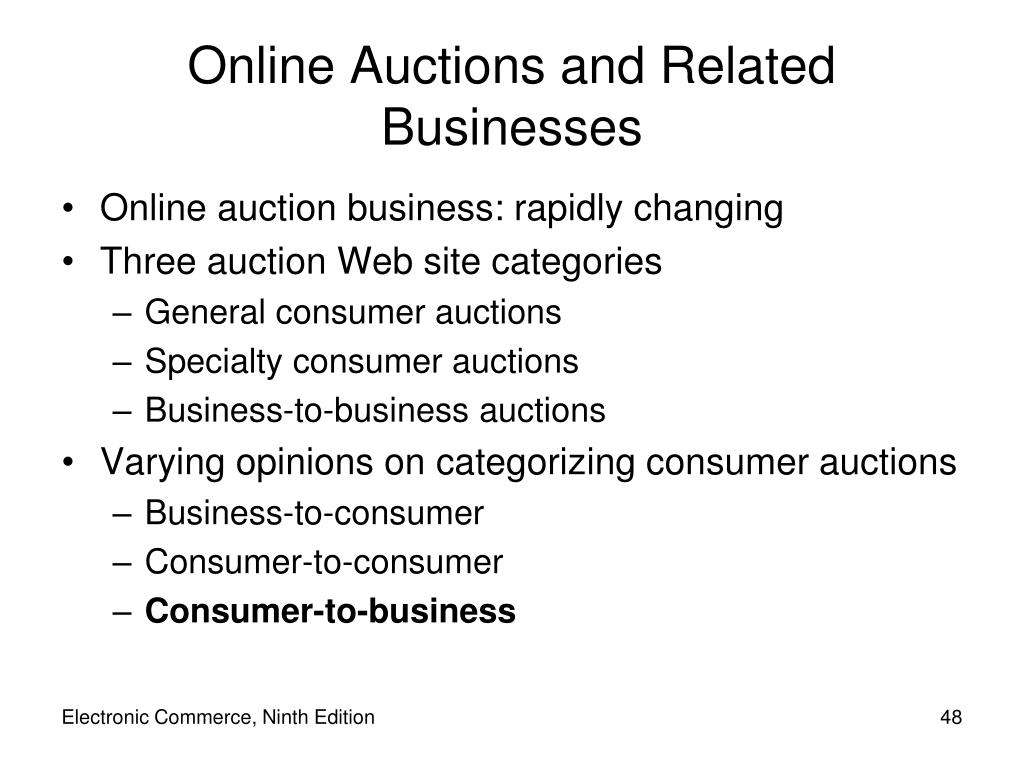 Online Auctions and Related Businesses