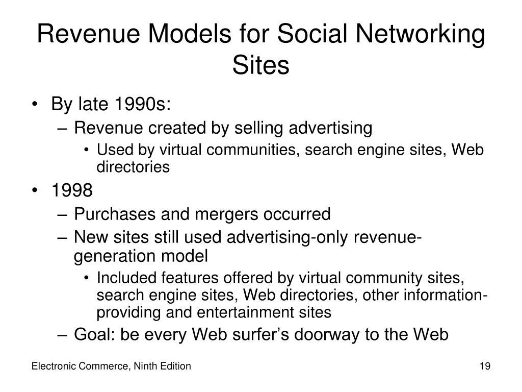 Revenue Models for Social Networking Sites