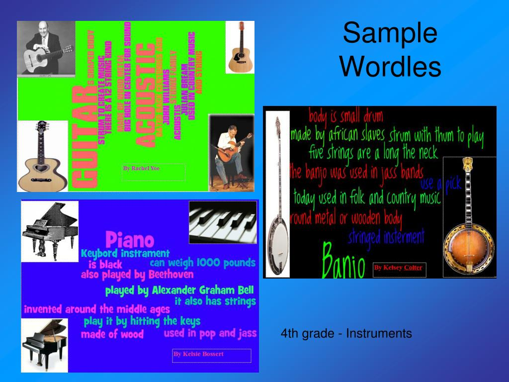 Sample Wordles