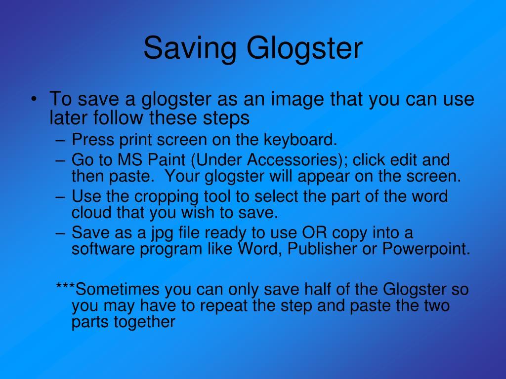 Saving Glogster