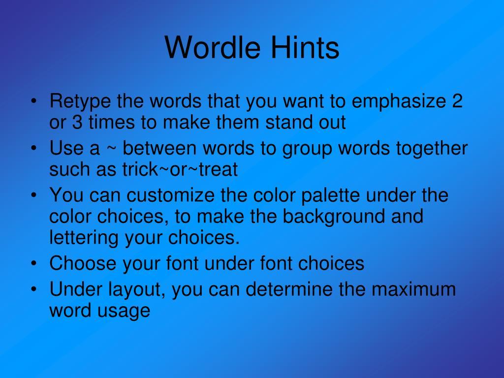 Wordle Hints