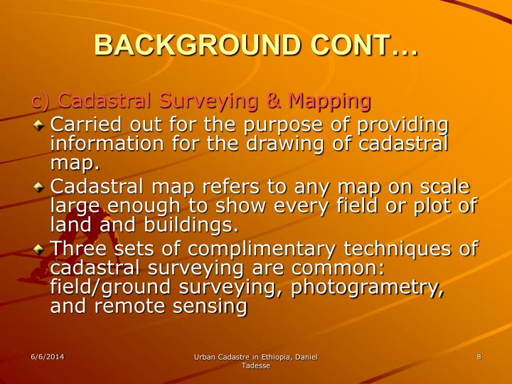 Cadastral Surveying And Mapping : Ppt urban cadastre in ethiopia powerpoint presentation