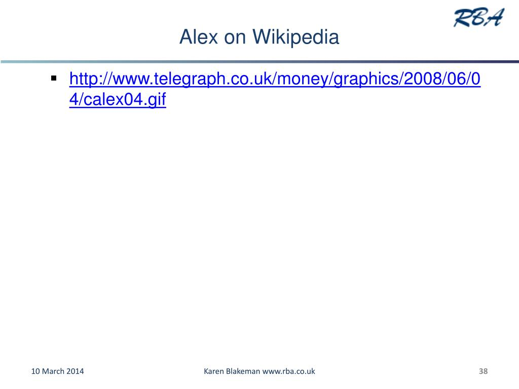 Alex on Wikipedia