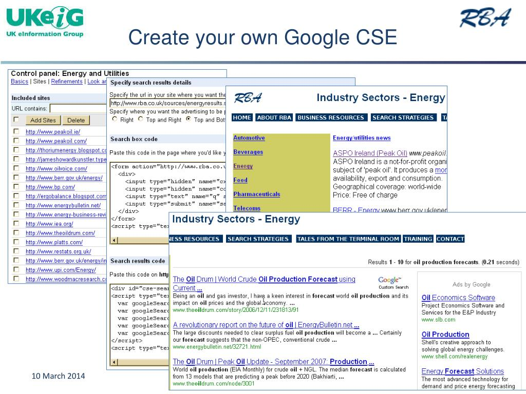 Create your own Google CSE
