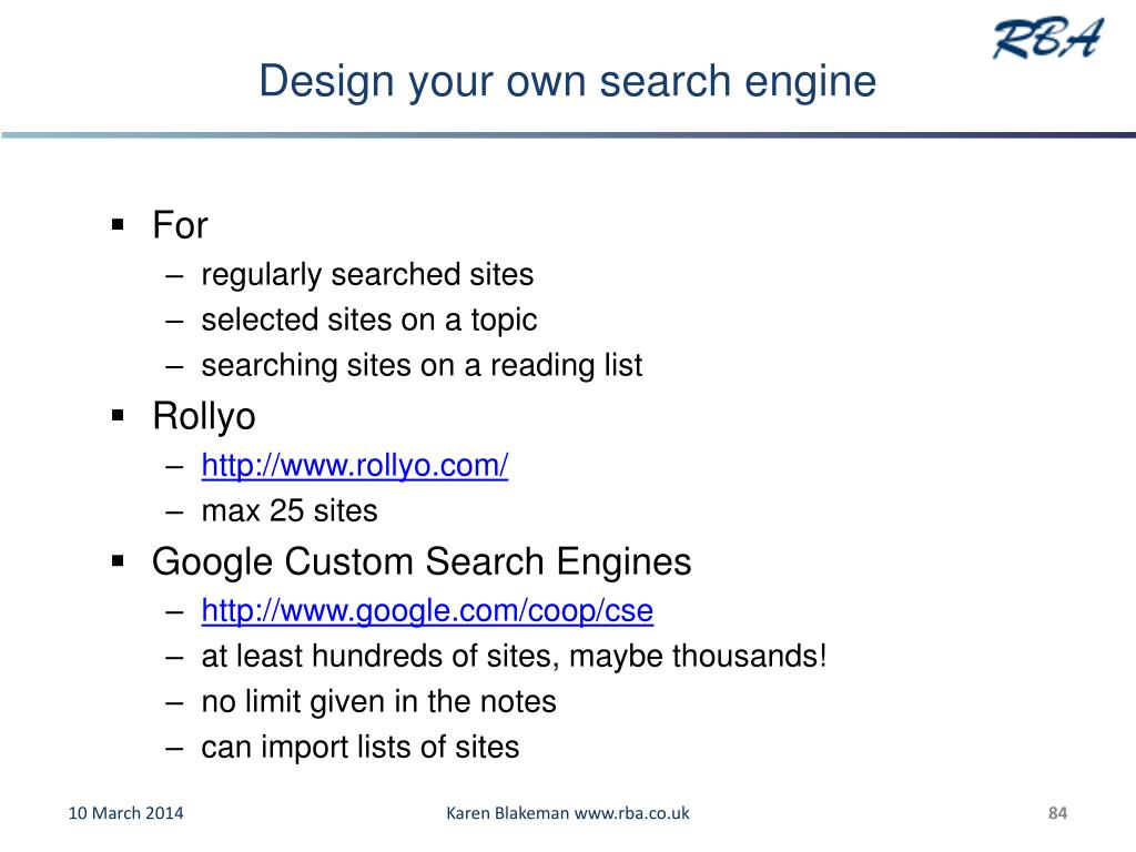 Design your own search engine