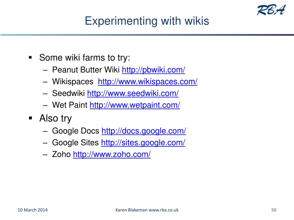 Experimenting with wikis