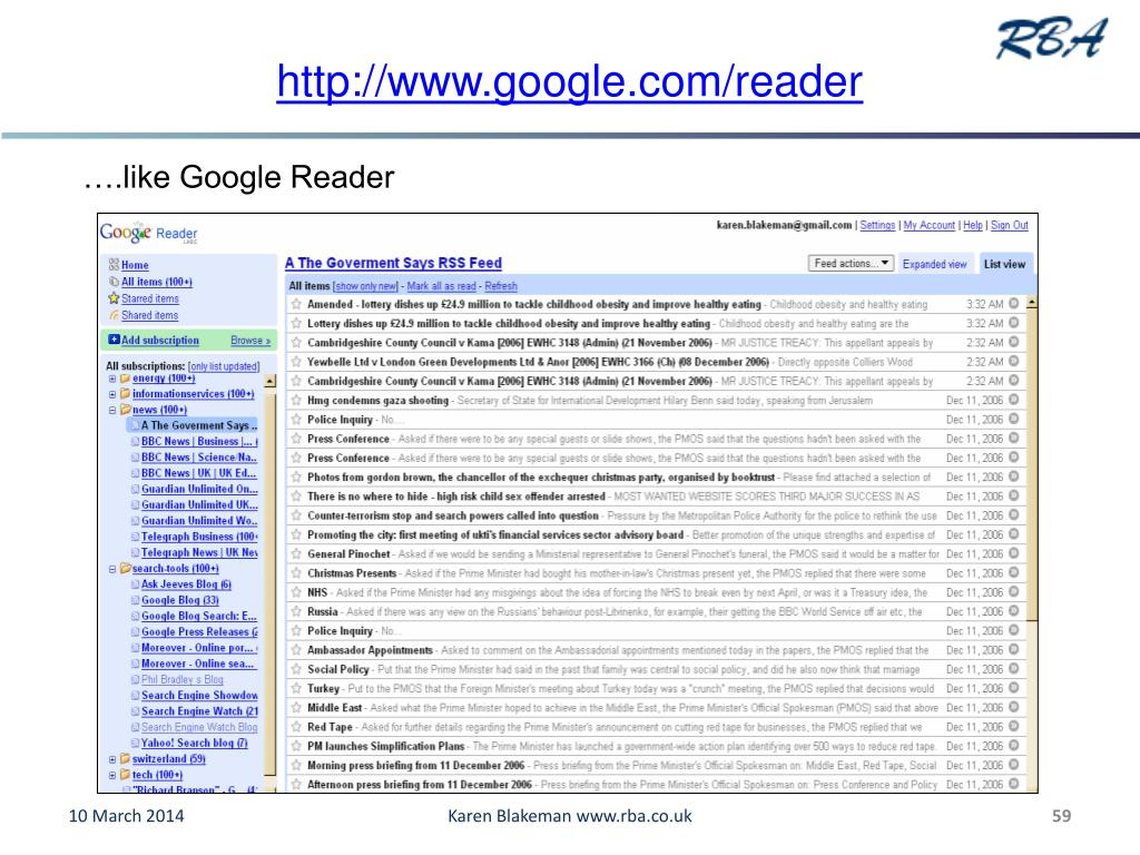 http://www.google.com/reader