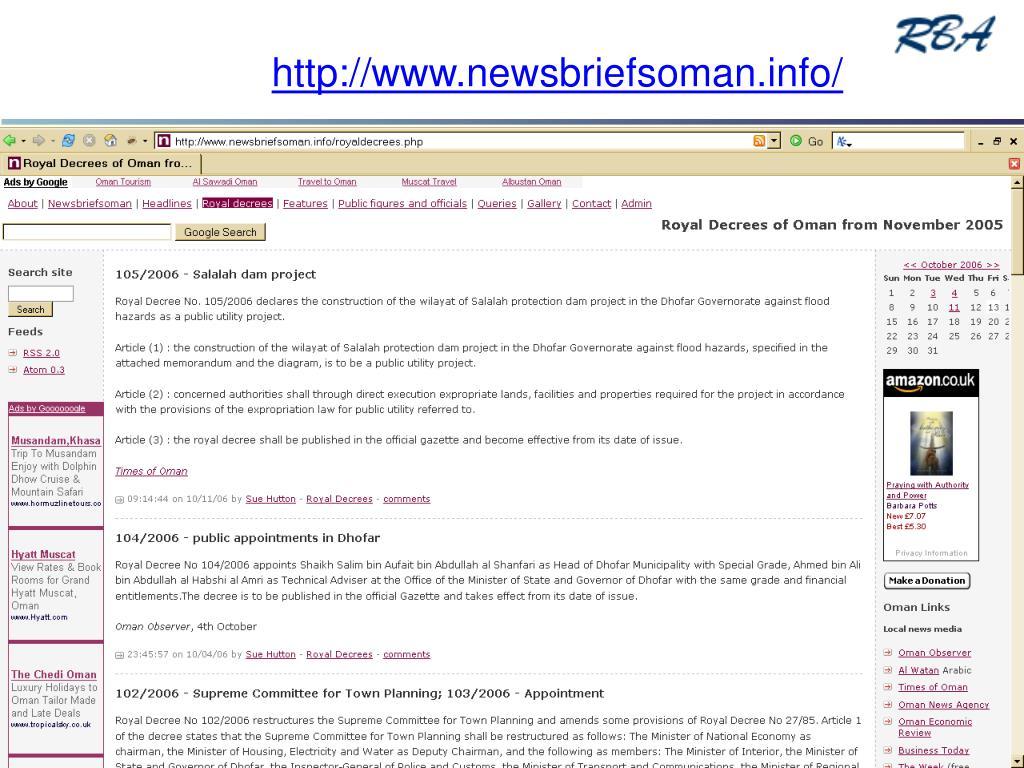 http://www.newsbriefsoman.info/