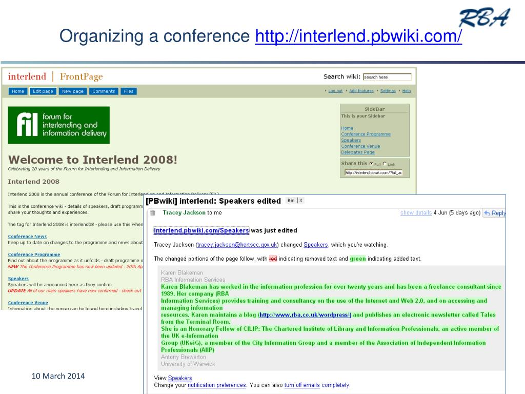Organizing a conference