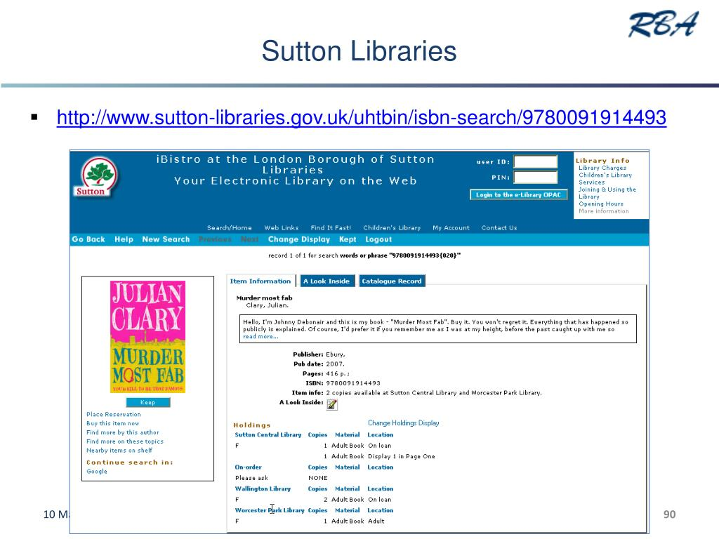 Sutton Libraries