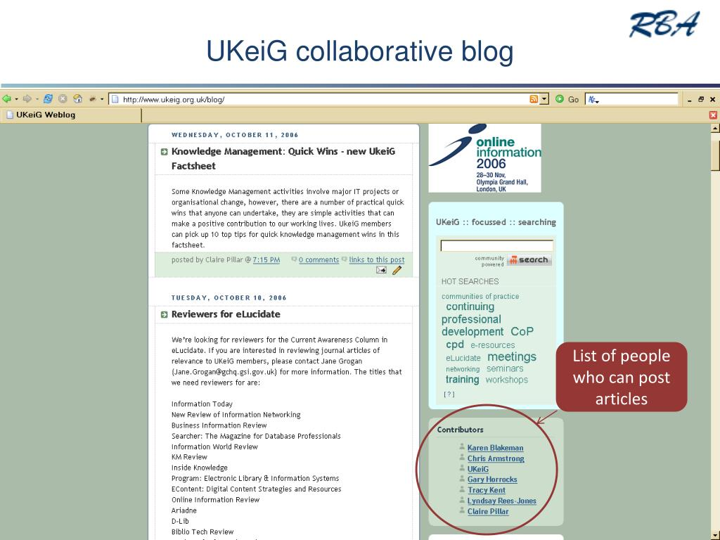 UKeiG collaborative blog