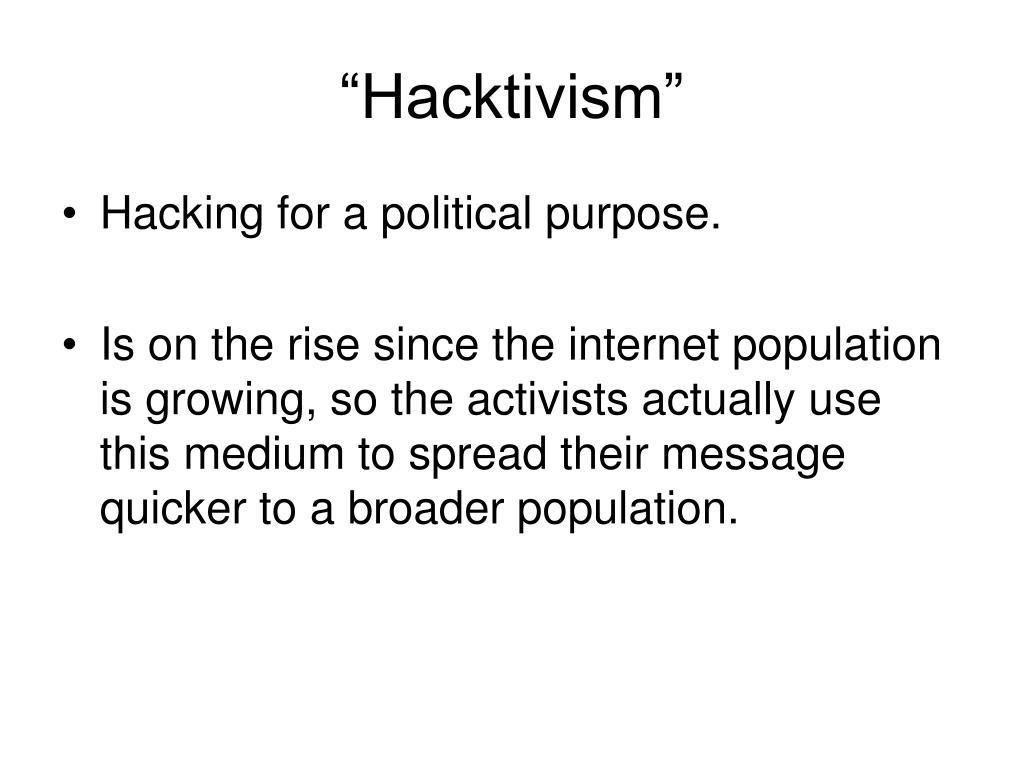 """""""Hacktivism"""""""