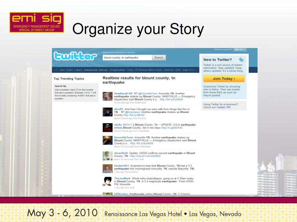 Organize your Story