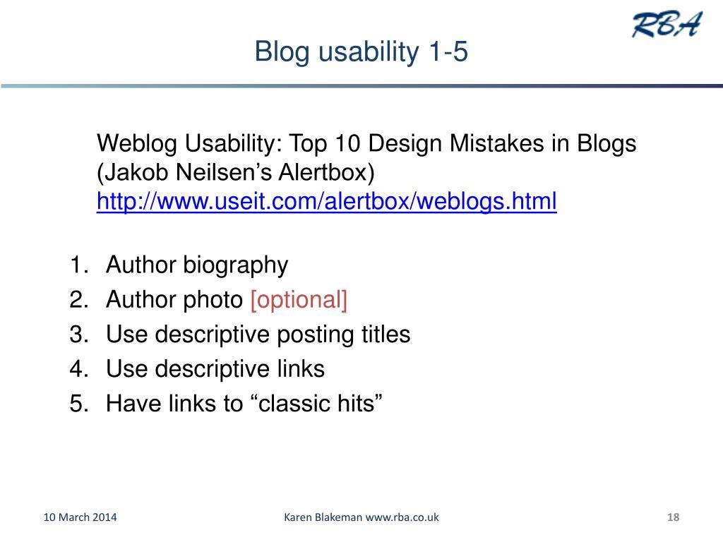 Blog usability 1-5