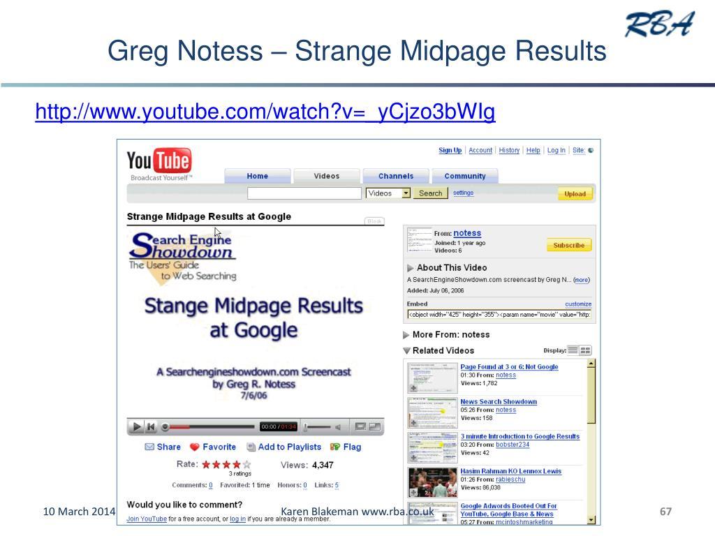 Greg Notess – Strange Midpage Results