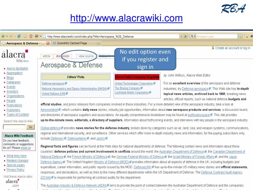 http://www.alacrawiki.com