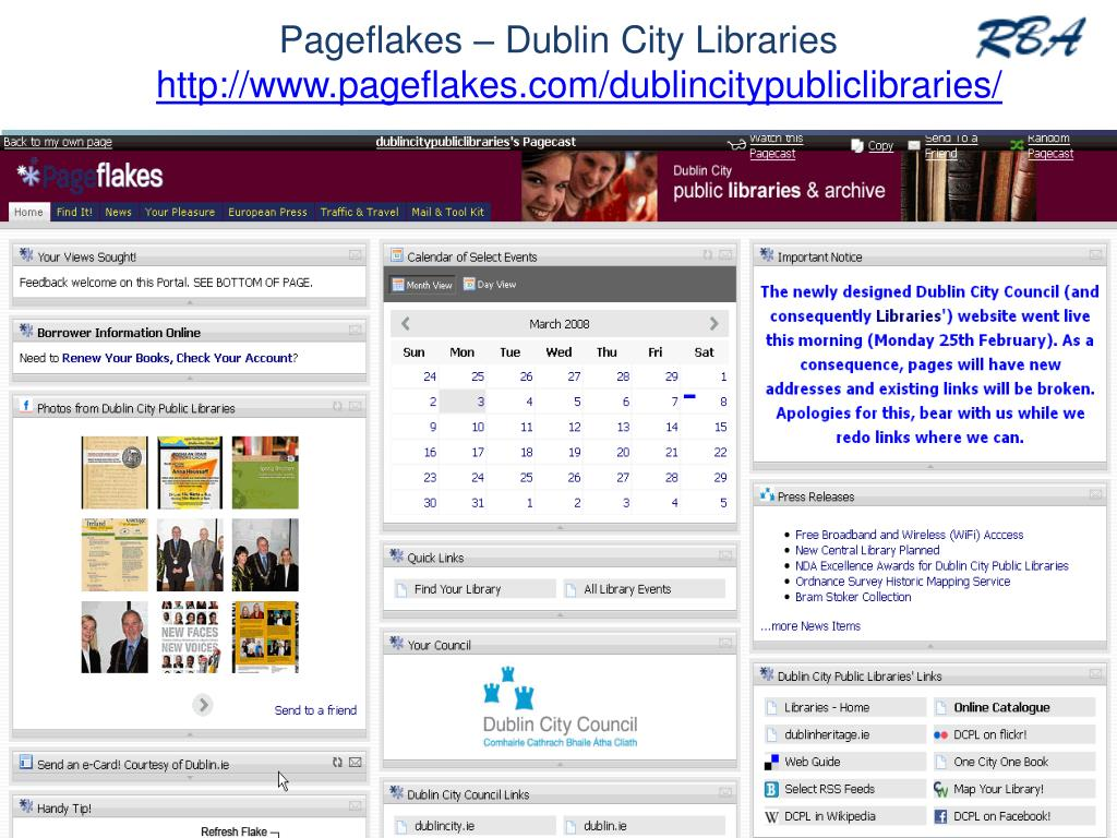 Pageflakes – Dublin City Libraries