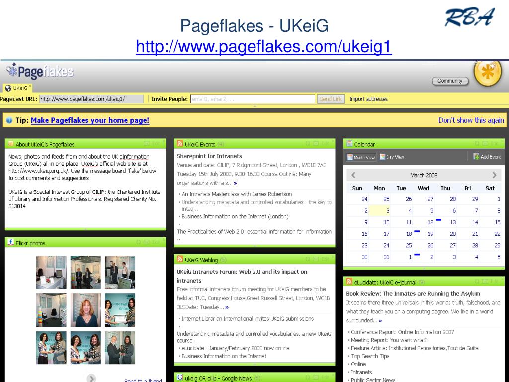 Pageflakes - UKeiG