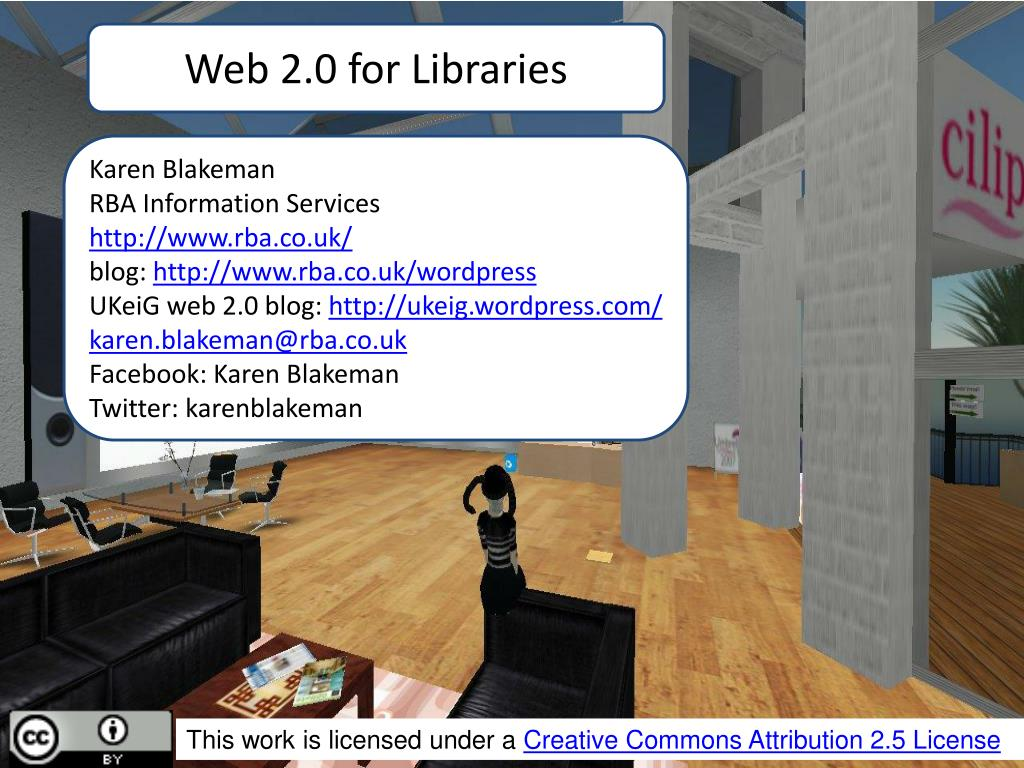 Web 2.0 for Libraries