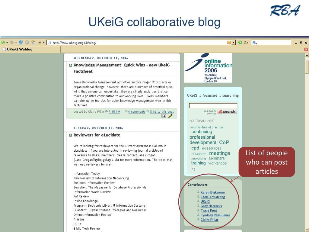 UKeiG collaborative blog