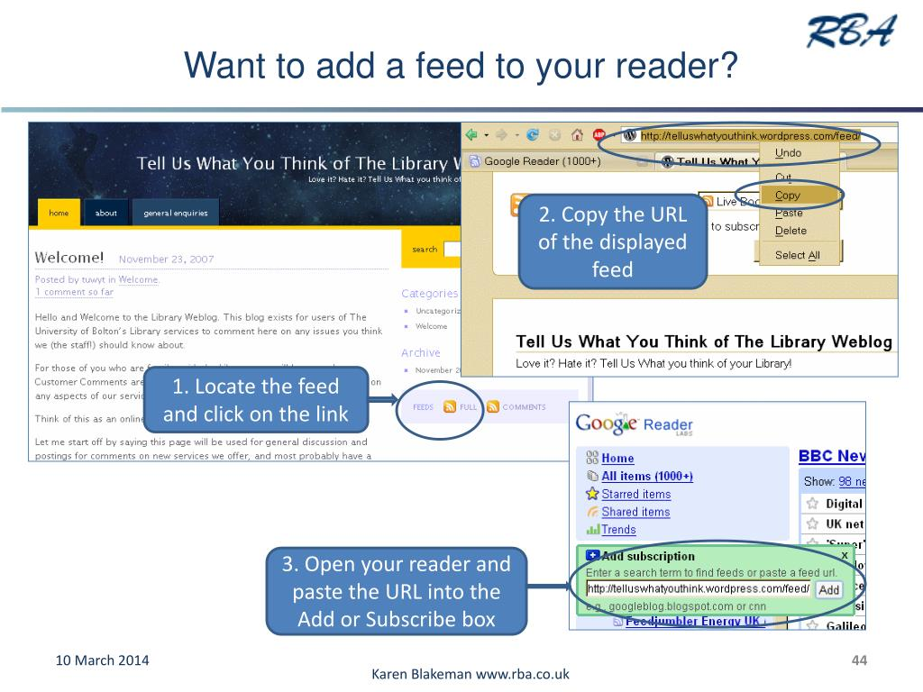 Want to add a feed to your reader?