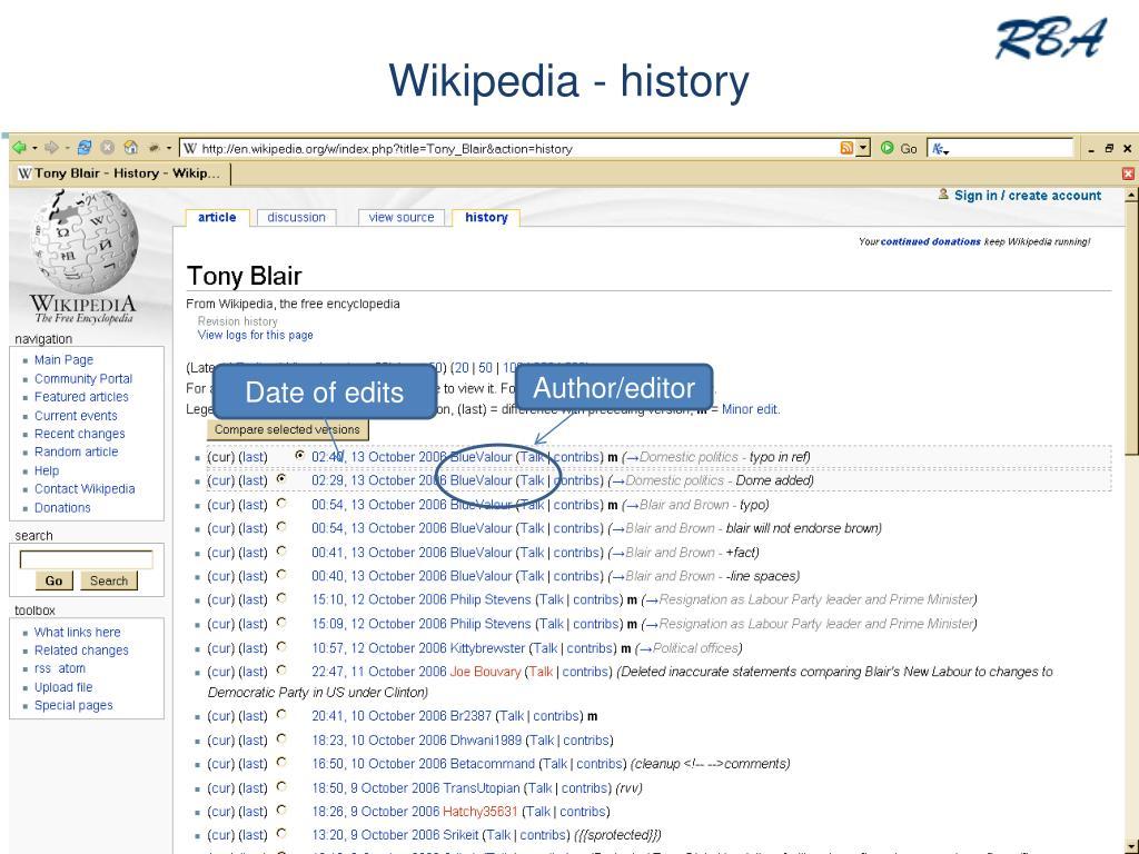 Wikipedia - history