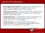 @cookbook recipes