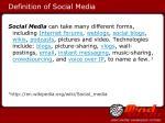 definition of social media
