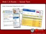 web 1 0 roots social text