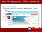 web 2 0 progression social networking