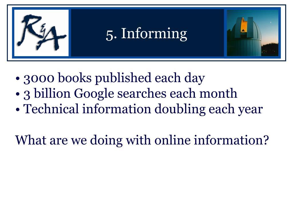 5. Informing