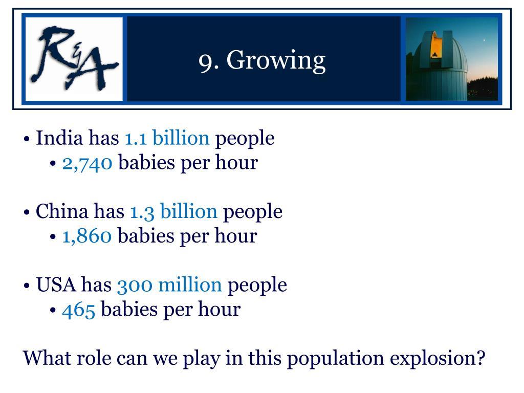 9. Growing