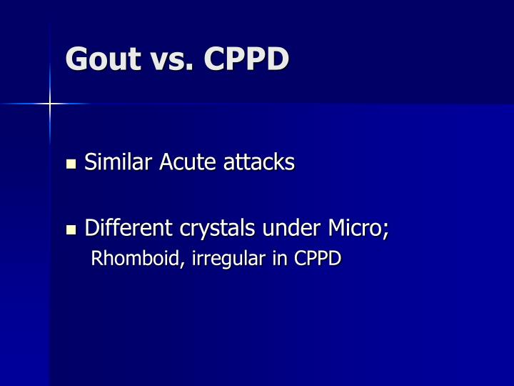 Gout vs. CPPD