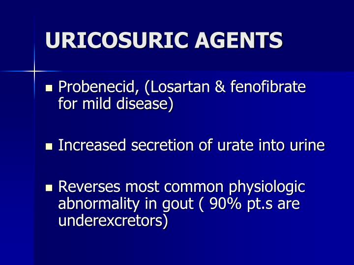 URICOSURIC AGENTS