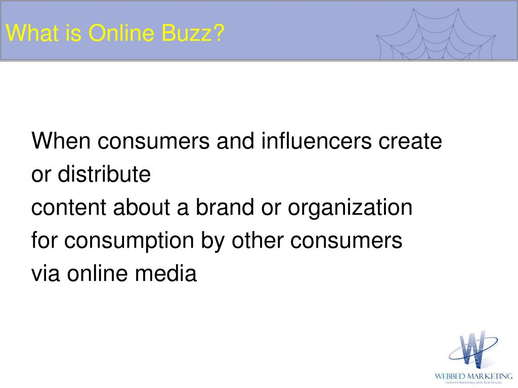 What is Online Buzz?