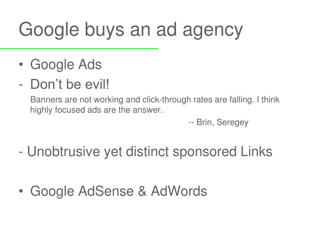 Google buys an ad agency