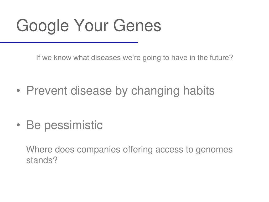 Google Your Genes