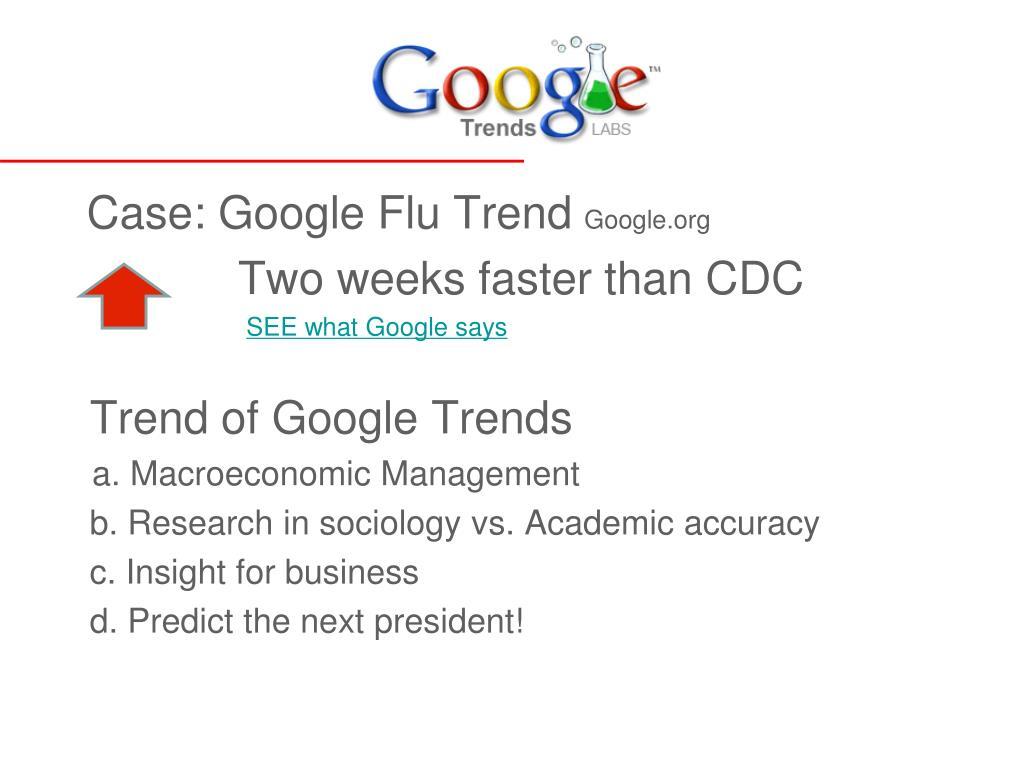 Case: Google Flu Trend