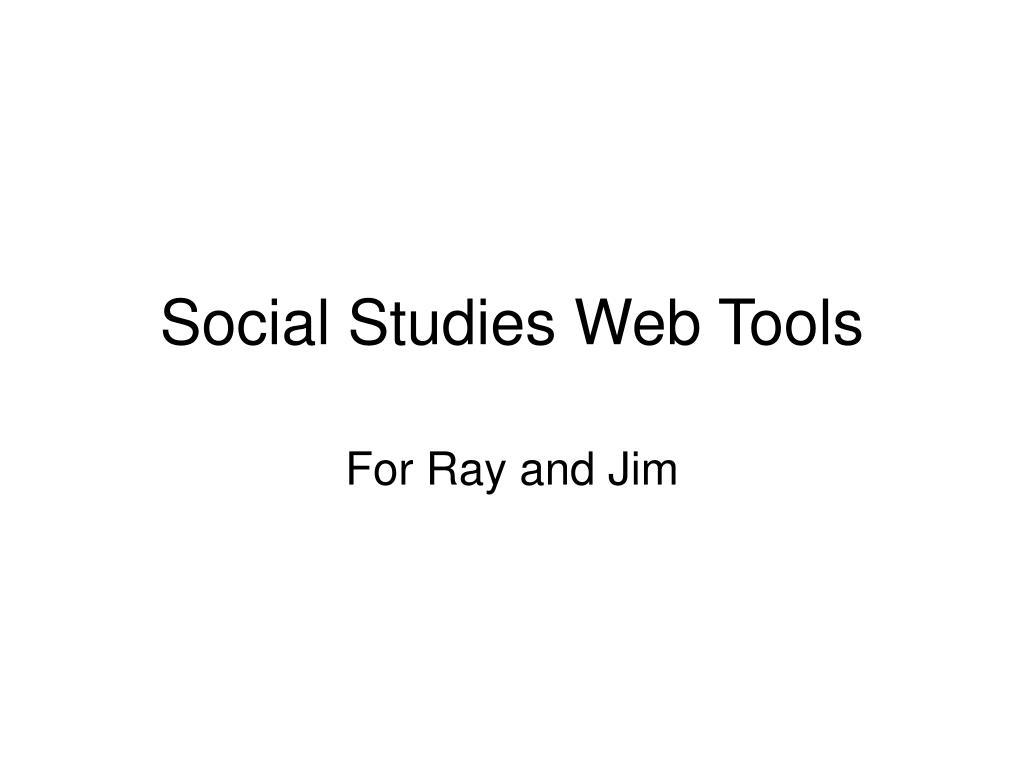Social Studies Web Tools
