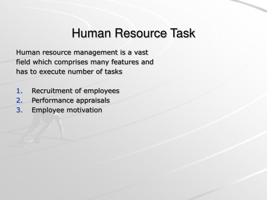 Human Resource Task