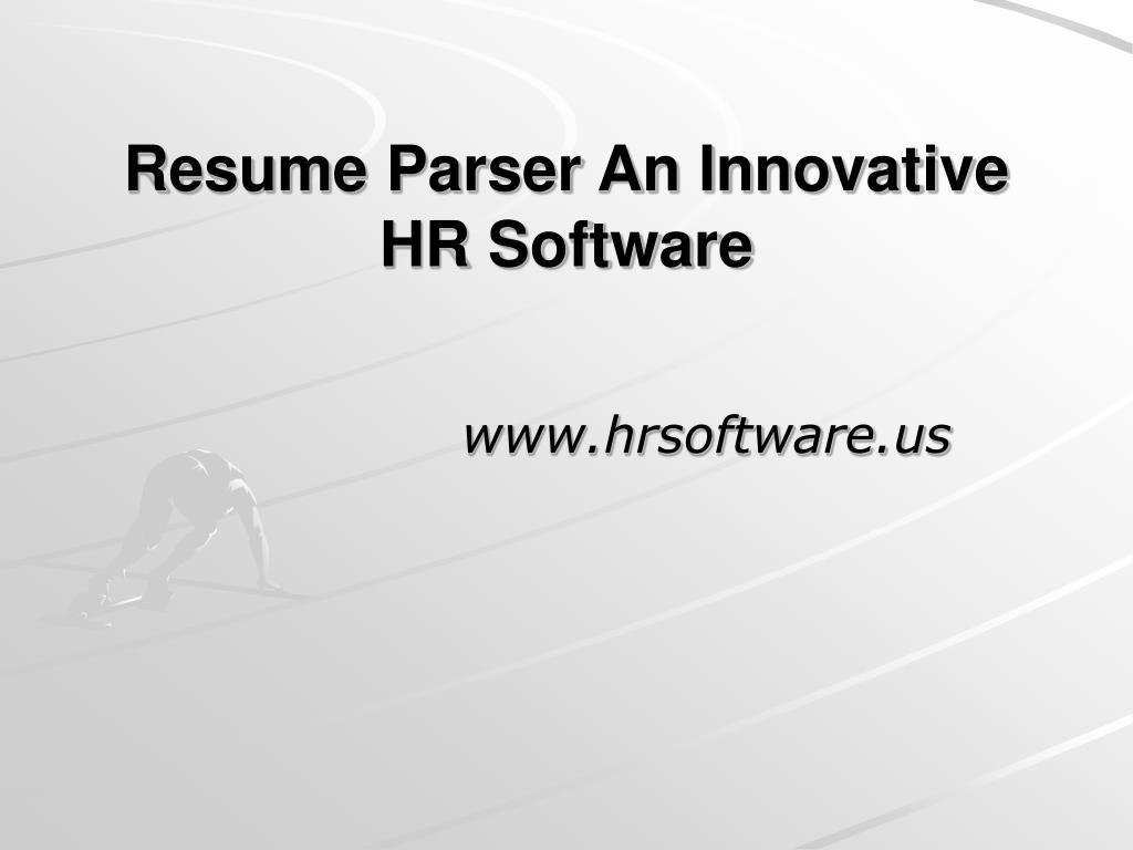 Resume Parser An Innovative HR Software