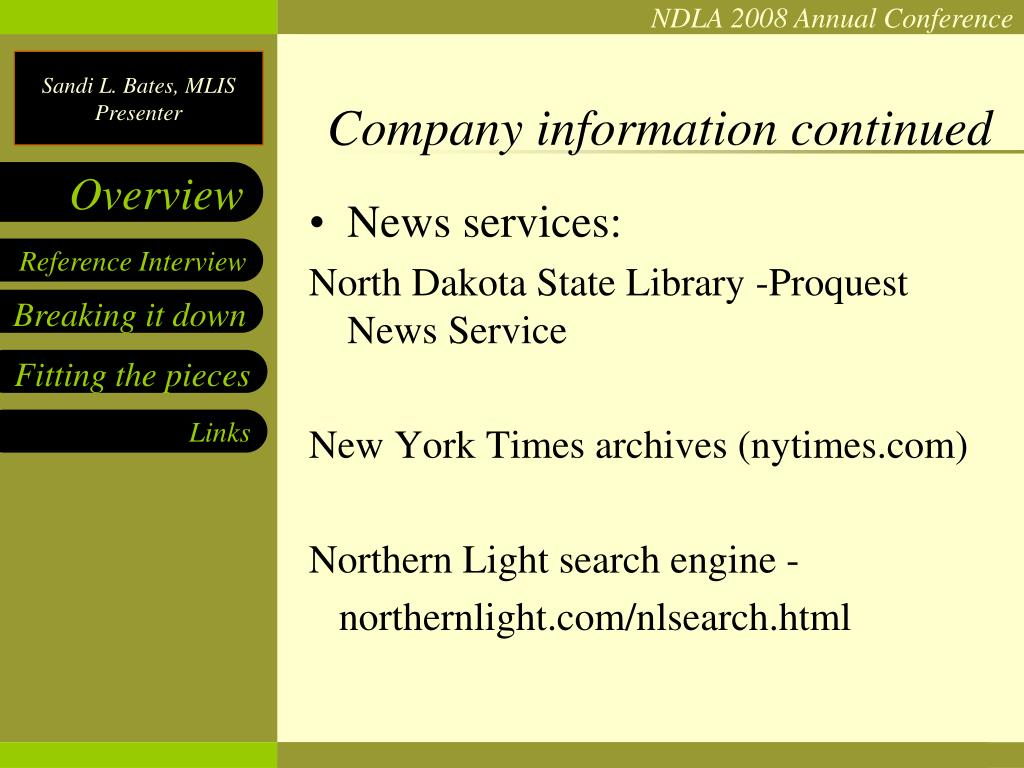 Company information continued