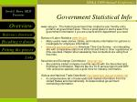 government statistical info