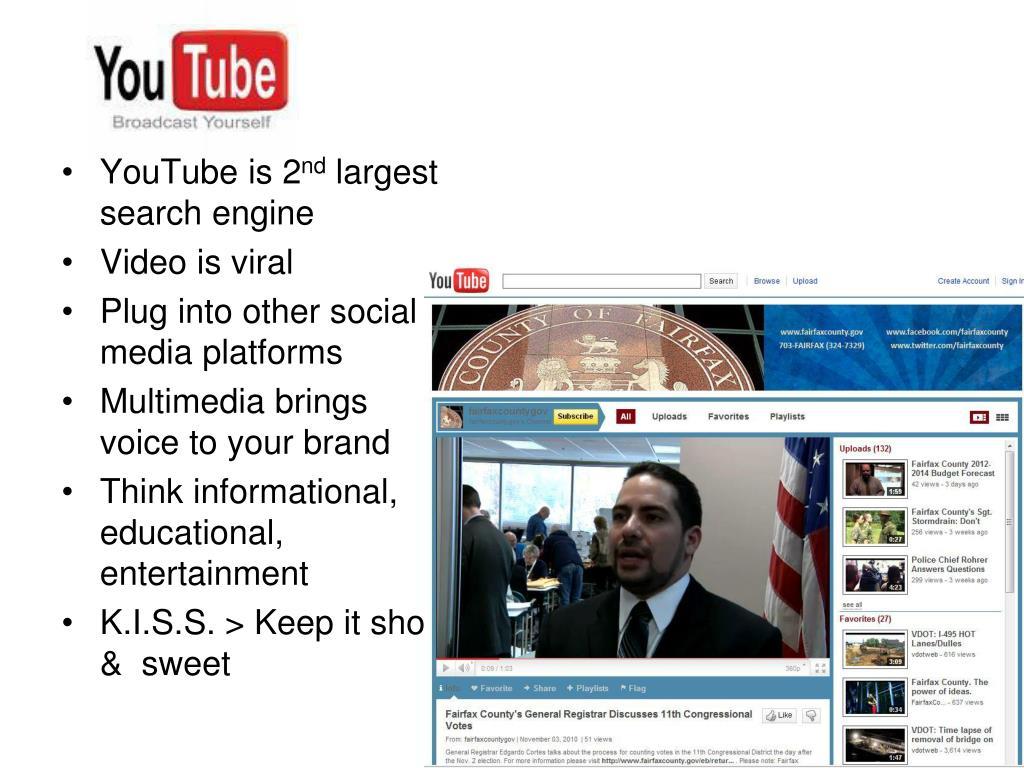 YouTube is 2