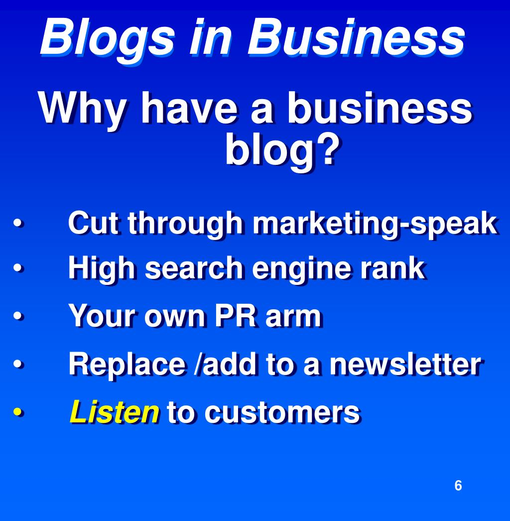 Why have a business blog?